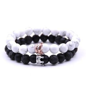 Jewelry - King & Queen Long Distance Couples Bracelet Set